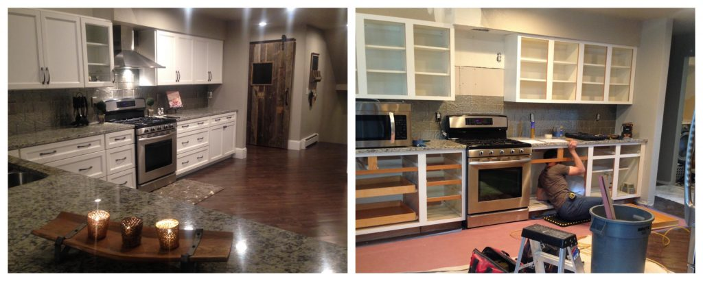 Combine Two Different Kitchen Cabinets